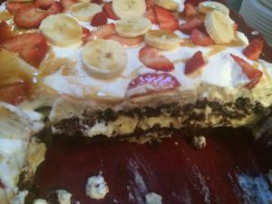banana split brownies inside